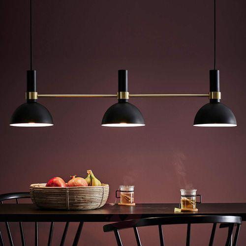 Lampa wisząca larry 3 x 40 w e27 czarno-złota marki Markslojd