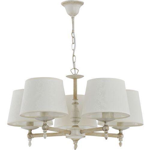 Żyrandol ALFA ROKSANA 18535 oprawa lampa wisząca zwis 5X40W E14 biały shabby chic, 18535