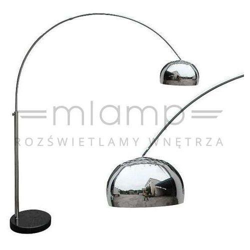Designerska LAMPA podłogowa SOHO TS-010121MM Zumaline metalowa OPRAWA stojąca kopuła na ramieniu chrom