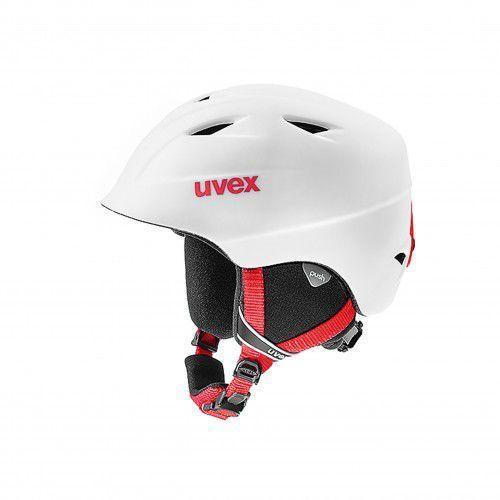 UVEX kask narciarski dziecięcy Airwing 2 pro - white-red mat (54-58 cm), 56/6/132/pr/12/05/XS