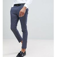 tall tapered trouser in dogstooth - navy, Heart & dagger