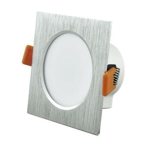 Oprawa podtynkowa 6,3W LED VENUS 470 lumenów srebrna szczotkowana 3622 POLUX/SANICO (5901508303622)