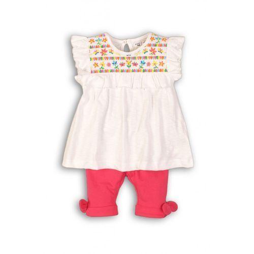 Minoti Komplet niemowlęcy bluzka+spodnie 6p38aj
