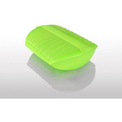 Naczynie żaroodporne z tacą, średnie - zielone - średni marki Lekue