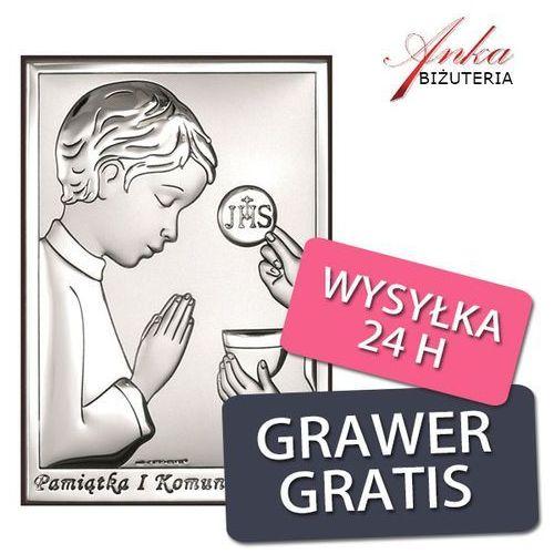 Pamiątka Pierwszej Komunii Św. dla chłopca - 9*13 cm - Srebrne obrazki