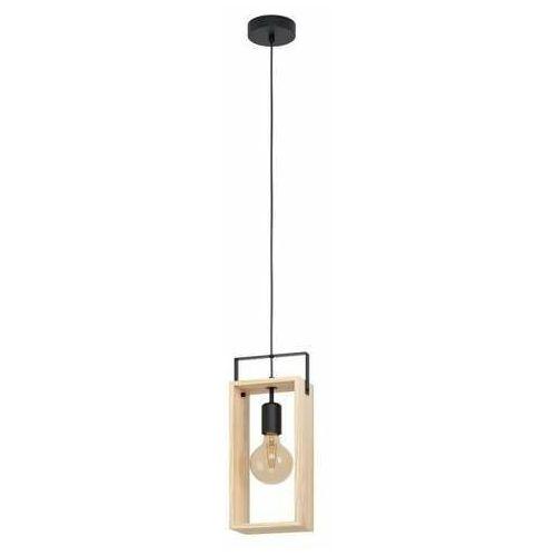 famborough 43413 lampa wisząca zwis 1x40w e27 drewno marki Eglo