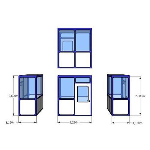 Budynek uniwersalny, wypełnienia z zaokrąglonymi narożnikami, do wewnątrz, dł. x