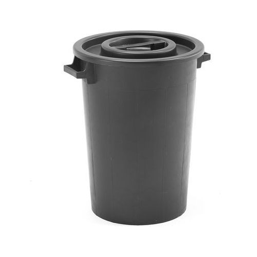 Plastikowy kosz na śmieci benjamin Ø 485x640 mm 75 l czarny marki Aj