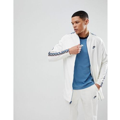Nike Track Jacket With Taped Side Stripe In White AJ2681-133 - White