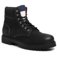 Trapery TOMMY JEANS - Outdoor Nubuck Boot EM0EM00316 Black 990, w 7 rozmiarach