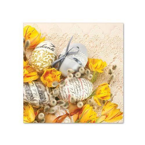 Serwetki wielkanocne pisanki i tulipany - 33 cm - 20 szt. marki Pol