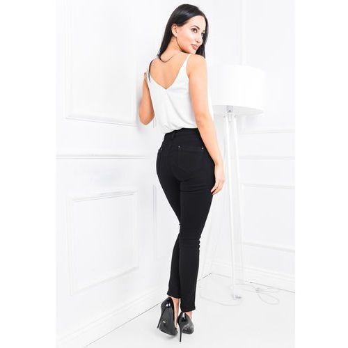 Czarne spodnie damskie jak jeansy, jeansy