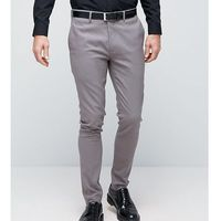 Only & Sons Super Skinny Smart Trousers - Grey, kolor szary