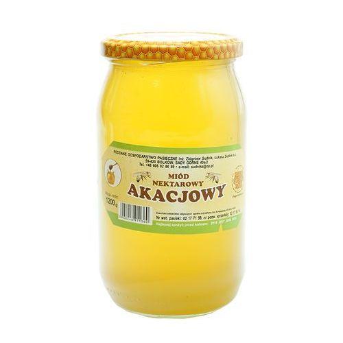 Miód akacjowy nektarowy 1200g Rodzinna Pasieka Sudnik
