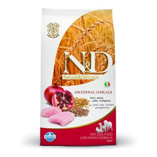 ND Low Grain Chicken Pomegranate Medium Adult 12kg Farmina Natural & Delicious N&D, C27E-95075_20151227104512