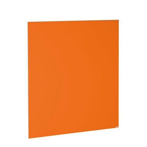 Szklana tablica suchościeralna, 1000x1000 mm, jaskrawy pomarańczowy