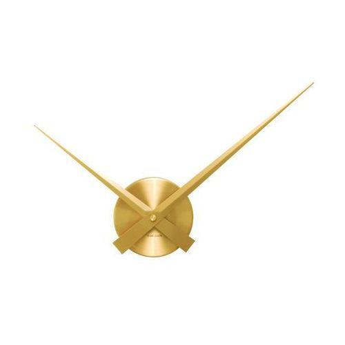 Karlsson:: Zegar ścienny Little Big Time Mini alu złoty - złoty, kolor żółty