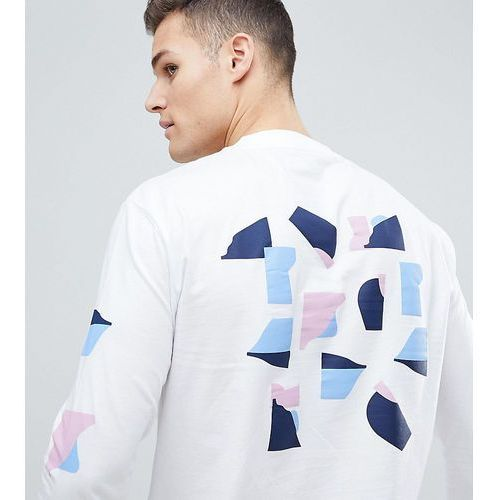 Noak t-shirt with abstract print in long sleeve - White, w 2 rozmiarach