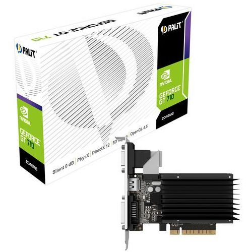 Palit GeForce CUDA GT710 2GB DDR3 64Bit DVI/HDMI/CRT BOX