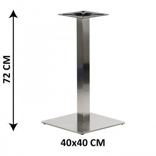 Stema - sh Podstawa stolika sh-3002-1/60/s, 40x40 cm, stal nierdzewna szczotkowana (stelaż stolika)