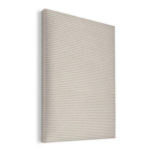 Dekoria panel do zagłówka 55x38cm, kremowo-beżowe pasy ala sztruks, 55x38cm, living