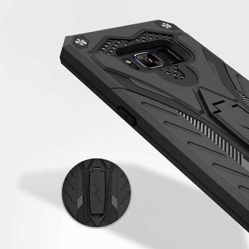 Zizo Static Cover - Pancerne etui Samsung Galaxy S8 z podstawką (czarny), kolor czarny