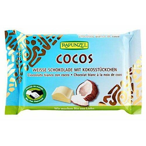Rapunzel: czekolada biała z wiórkami kokosowymi BIO - 100 g (4006040189008)