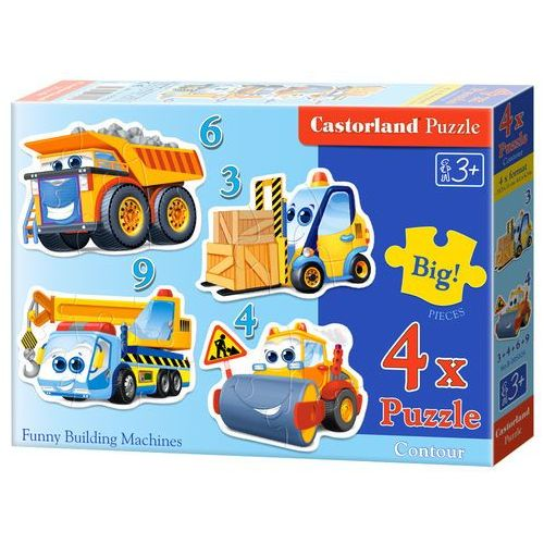 Puzzle 4w1 funny bulding machines- bpz marki Castor