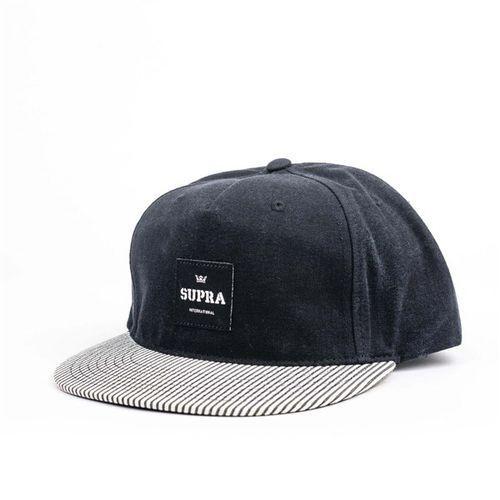 czapka z daszkiem SUPRA - Legacy 2 Slider Black-White (002) rozmiar: OS, kolor biały