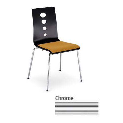 Krzesło Lantana Seat Plus Chrome M62 (ciemno-niebieski) H3005 Grey Beige Zebrano, kolor niebieski