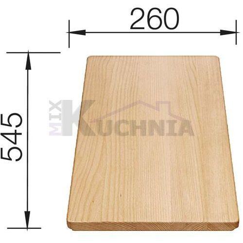 Deska z drewna bukowego do idento 545 x 260 mm marki Blanco
