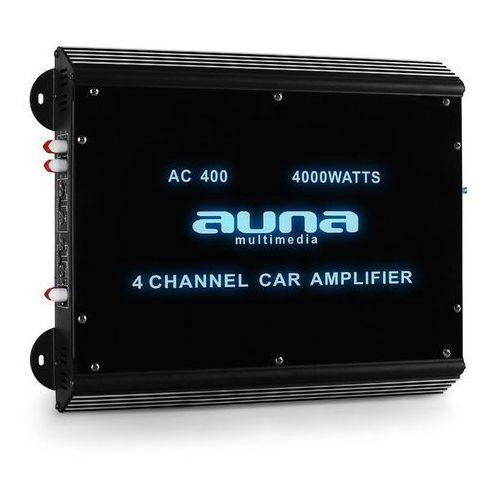 4-kanałowy wzmacniacz samochodowy 360w rms 4000w max.akryl marki Auna