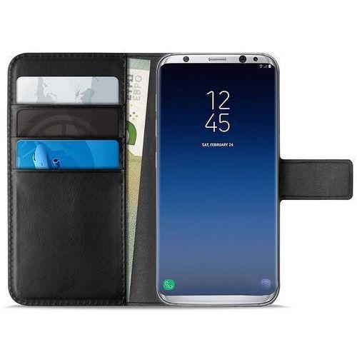 Puro booklet wallet case - etui samsung galaxy s9+ z kieszeniami na karty + stand up (czarny)