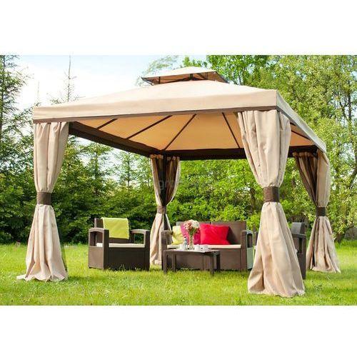Pawilon ogrodowy z moskitierą Walencja 3x4m kremowy Garden Point (5903332903665)