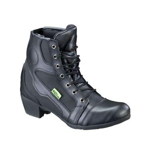 Damskie skórzane buty motocyklowe jartala nf-6092, czarny, 36 marki W-tec