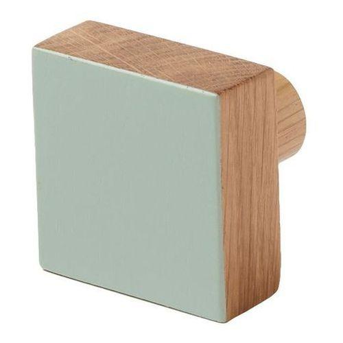 Wieszaczek drewniany nantua zielony marki Cooke&lewis
