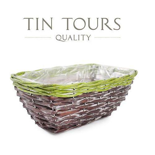 Prostokątny koszyk do obsadzania kwiatami 26x17x10 cm marki Tin tours sp.z o.o.