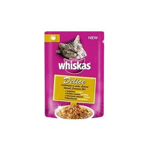 WHISKAS Delice indyk gotowany w sosie 0.085 kg- RÓB ZAKUPY I ZBIERAJ PUNKTY PAYBACK - DARMOWA WYSYŁKA OD 99 ZŁ - produkt z kategorii- Karmy i przysmaki dla kotów