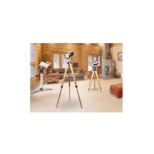 MAXlight Foto F0032 Lampa stojąca podłogowa 1x40W E27 chrom / drewno