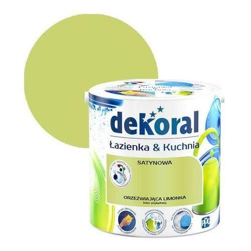 Farba satynowa łazienka i kuchnia orzeźwiająca limonka 2,5 l marki Dekoral