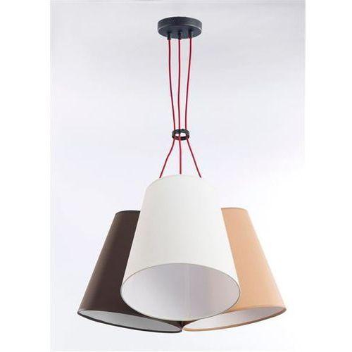 Lampa wisząca necar 3 3217 - jasny beż/brąz/karmel marki Namat