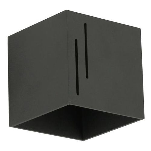 Lampex quado modern b 692/b cza kinkiet lampa ścienna 1x40w g9 czarny