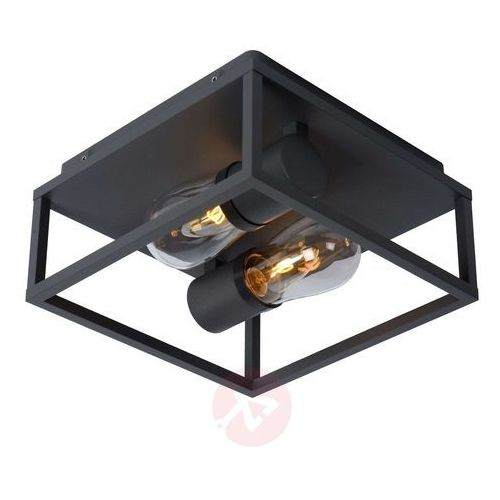 Lucide Carlyn 27100/02/30 Plafon lampa sufitowa 2x6W E14 czarny, 27100/02/30