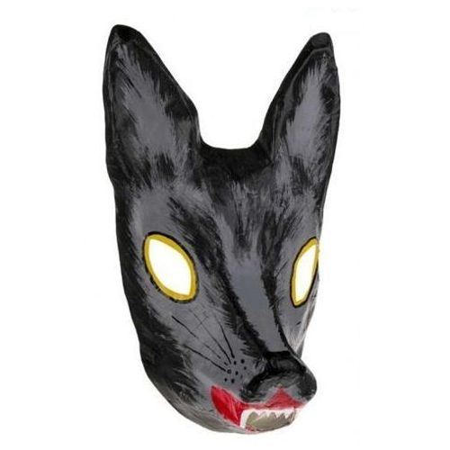 Maska ręcznie robiona - Wilk, dla dzieci