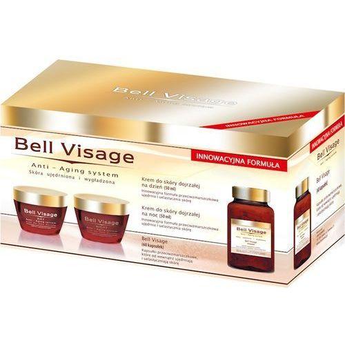 BELL VISAGE ANTI-AGING Zest. (Krem n/dzień,Krem n/noc,Kapsułki ) krem+kapsułki - 1 zest., 03518