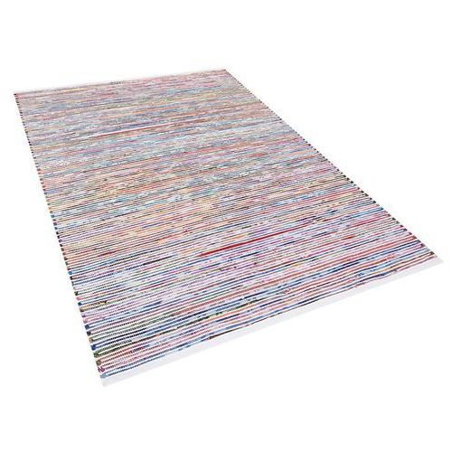 Dywan - wielokolorowo-biały - 160x230 cm - bawełna - handmade - bartin marki Beliani