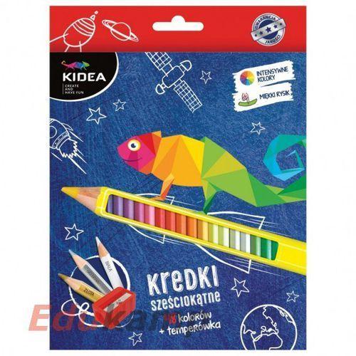 Kredki sześciokątne 48 kolorów z temperówką marki Kidea