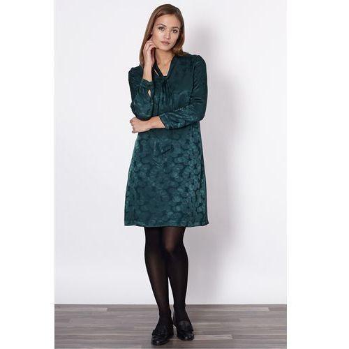 Zielona sukienka z delikatnym wzorem -  marki Click fashion