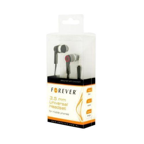 Słuchawki Forever Zestaw słuchawkowy Forever mini-jack uniwersalny z przełącznikiem - GSM004003 Darmowy odbiór w 21 miastach!
