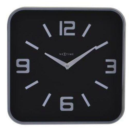 Nextime - zegar ścienny shoko - czarny